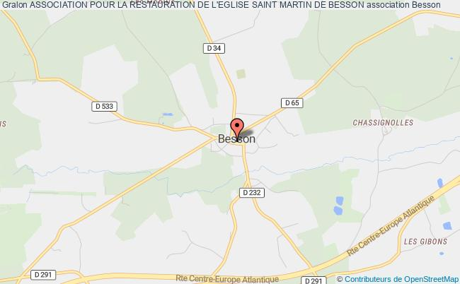 plan association Association Pour La Restauration De L'eglise Saint Martin De Besson
