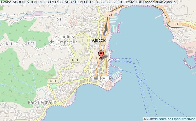 plan association Association Pour La Restauration De L'eglise St Roch D'ajaccio
