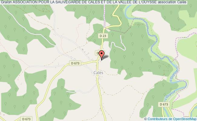 plan association Association Pour La Sauvegarde De Cales Et De La Vallee De L'ouysse