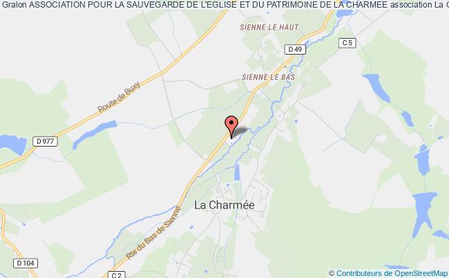 plan association Association Pour La Sauvegarde De L'eglise Et Du Patrimoine De La Charmee