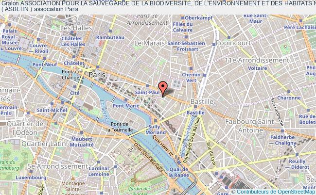 plan association Association Pour La Sauvegarde De La Biodiversite, De L'environnement Et Des Habitats Naturels  ( Asbehn ) Paris