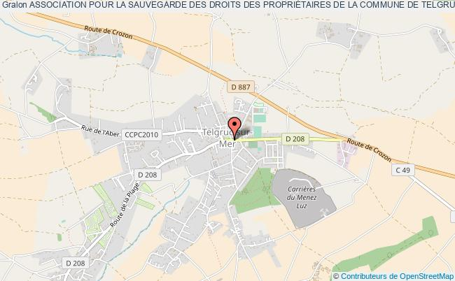 plan association Association Pour La Sauvegarde Des Droits Des PropriÉtaires De La Commune De Telgruc Sur Mer Et Des Villages Du Bas D'argol