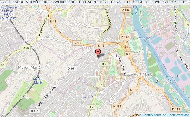 plan association Association Pour La Sauvegarde Du Cadre De Vie Dans Le Domaine De Grandchamp, Le Pecq Sur Seine (ascaviegrandchamp) le Pecq