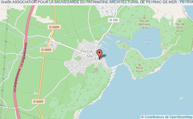 plan association Association Pour La Sauvegarde Du Patrimoine Architectural De Peyriac De Mer - Peyriac Patrimoine - Pp Peyriac-de-Mer