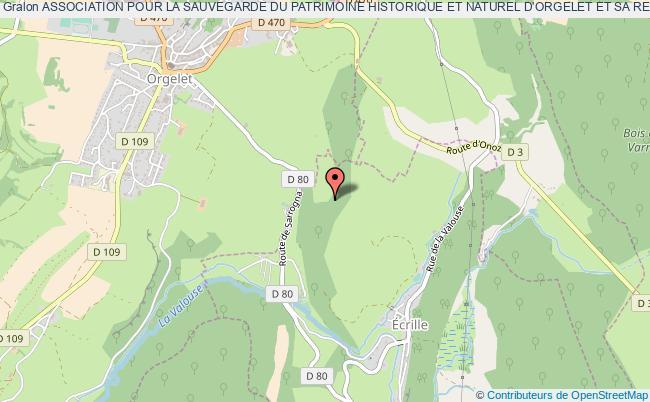 plan association Association Pour La Sauvegarde Du Patrimoine Historique Et Naturel D'orgelet Et Sa Region