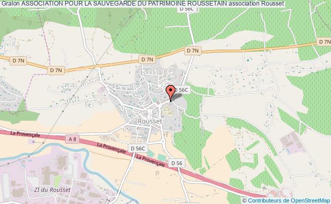 plan association Association Pour La Sauvegarde Du Patrimoine Roussetain Rousset