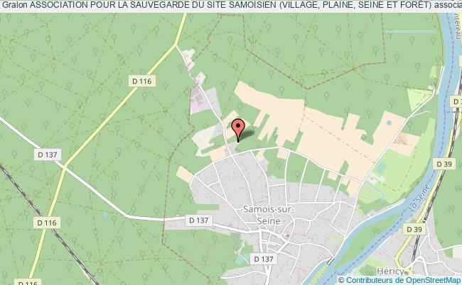 plan association Association Pour La Sauvegarde Du Site Samoisien (village, Plaine, Seine Et ForÊt) Samois-sur-Seine