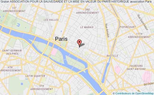 plan association Association Pour La Sauvegarde Et La Mise En Valeur Du Paris Historique