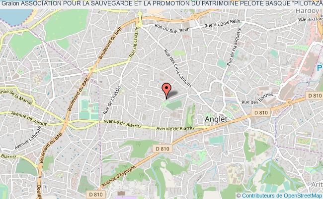 """plan association Association Pour La Sauvegarde Et La Promotion Du Patrimoine Pelote Basque """"pilotazain"""""""