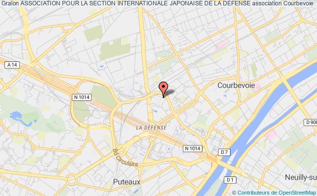 plan association Association Pour La Section Internationale Japonaise De La DÉfense Courbevoie