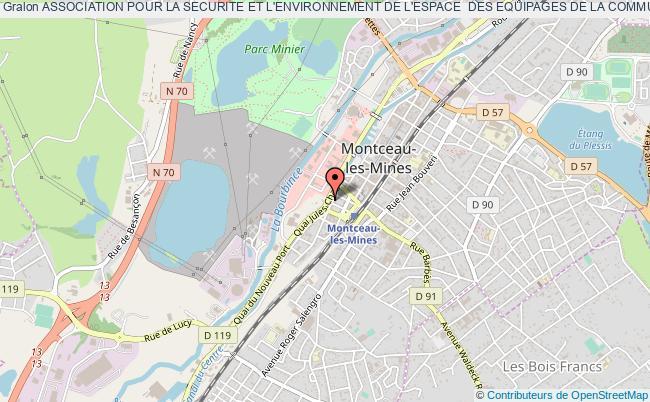 plan association Association Pour La Securite Et L'environnement De L'espace  Des Equipages De La Communaute Creusot Montceau (ccm)  Par Sigle Aseee