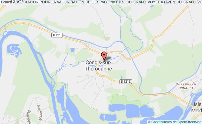 plan association Association Pour La Valorisation De L'espace Nature Du Grand Voyeux (aven Du Grand Voyeux Ou Aven Gv) Congis-sur-Thérouanne