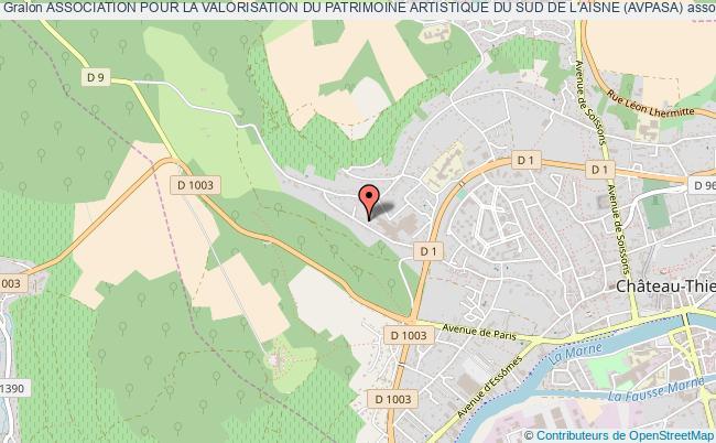 plan association Association Pour La Valorisation Du Patrimoine Artistique Du Sud De L'aisne (avpasa)