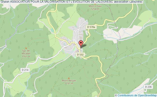 plan association Association Pour La Valorisation Et L'evolution De Lalouvesc