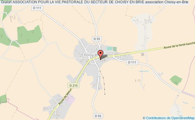 plan association Association Pour La Vie Pastorale Du Secteur De Choisy En Brie Choisy-en-Brie