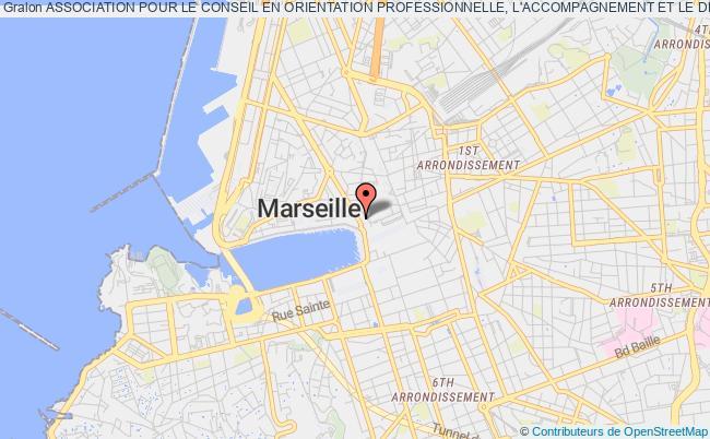 plan association Association Pour Le Conseil En Orientation Professionnelle, L'accompagnement Et Le Developpement (a.c.o.p.a.d.) Marseille