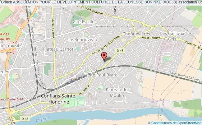 plan association Association Pour Le Developpement Culturel De La Jeunesse Soninke (adcjs) Conflans-Sainte-Honorine