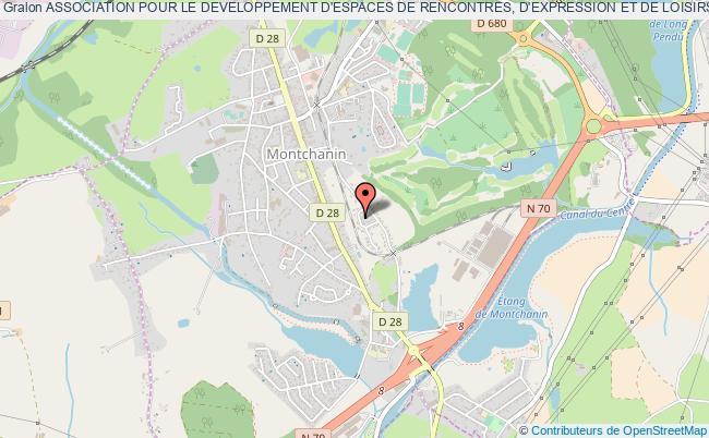 plan association Association Pour Le Developpement D'espaces De Rencontres, D'expression Et De Loisirs - Montchanin (a.d.e.r.e.l.)
