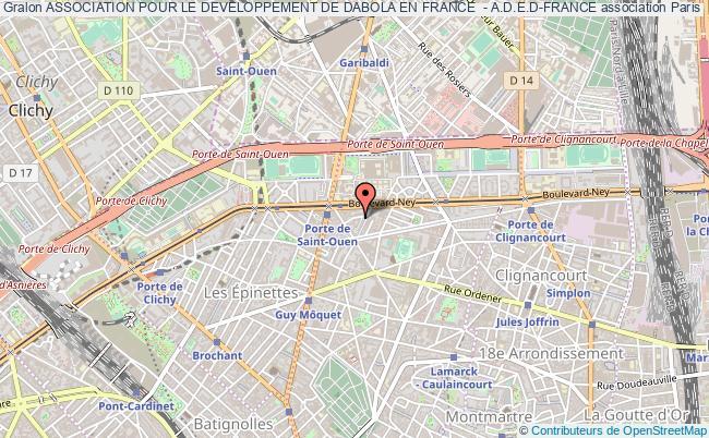 plan association Association Pour Le Developpement De Dabola En France  - A.d.e.d-france