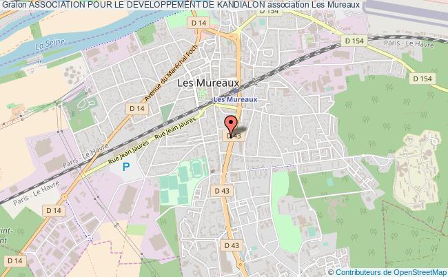 plan association Association Pour Le Developpement De Kandialon Les Mureaux