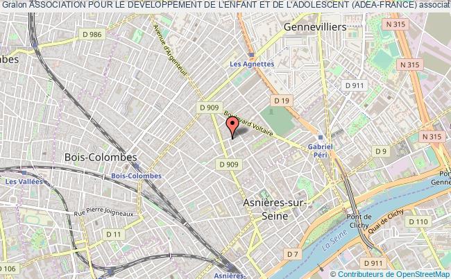 plan association Association Pour Le Developpement De L'enfant Et De L'adolescent (adea-france) Asnières-sur-Seine