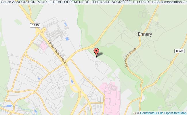 plan association Association Pour Le Developpement De L'entraide Sociale Et Du Sport Loisir Osny