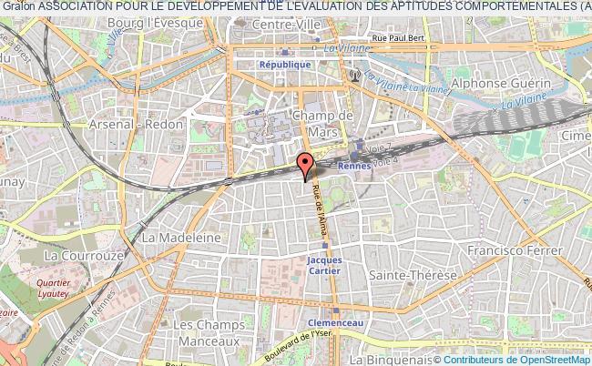 plan association Association Pour Le Developpement De L'evaluation Des Aptitudes Comportementales (adeac) Rennes