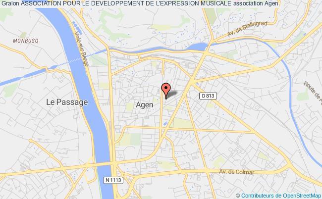 plan association Association Pour Le Developpement De L'expression Musicale
