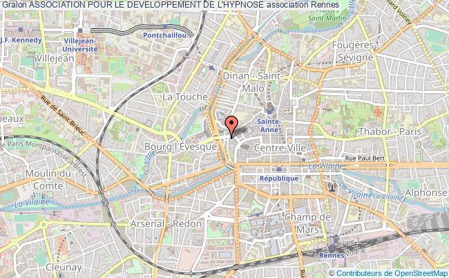 plan association Association Pour Le Developpement De L'hypnose Rennes