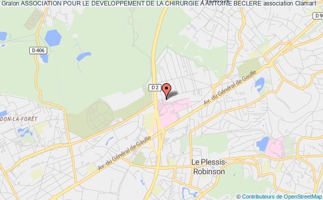 plan association Association Pour Le Developpement De La Chirurgie A Antoine Beclere