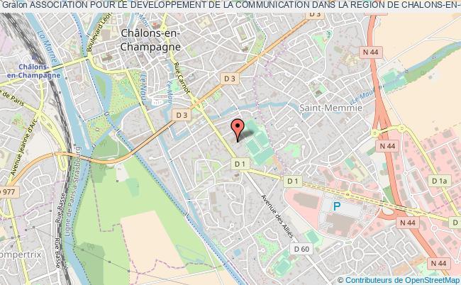 plan association Association Pour Le Developpement De La Communication Dans La Region De Chalons-en-champagne Dite Radio Mau-nau