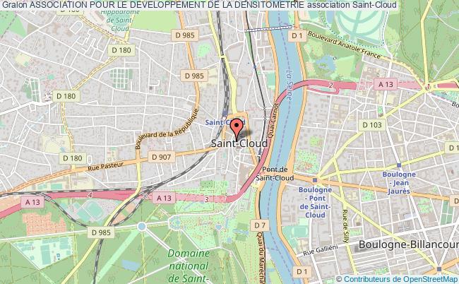 plan association Association Pour Le Developpement De La Densitometrie