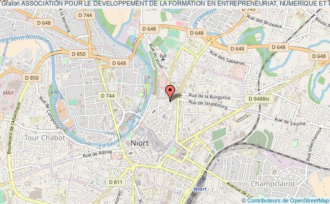 """plan association Association Pour Le Developpement De La Formation En Entrepreneuriat, Numerique Et Innovation Sur Le Niortais """"adfeni"""""""
