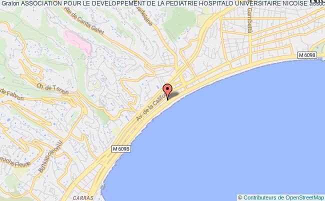plan association Association Pour Le Developpement De La Pediatrie Hospitalo Universitaire Nicoise Nice