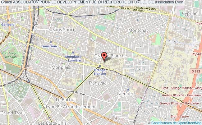 plan association Association Pour Le Developpement De La Recherche En Urologie Lyon