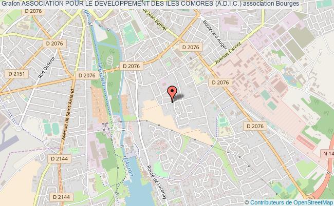 plan association Association Pour Le Developpement Des Iles Comores (a.d.i.c.) Bourges