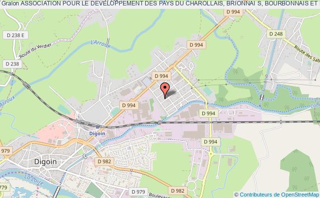 plan association Association Pour Le Developpement Des Pays Du Charollais, Brionnai S, Bourbonnais Et Bassin Minier (pa) Digoin