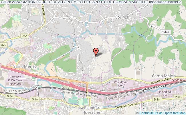 plan association Association Pour Le Developpement Des Sports De Combat Marseille