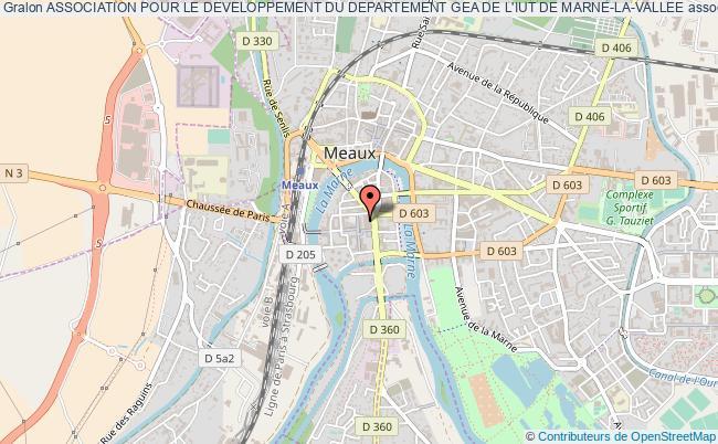 plan association Association Pour Le Developpement Du Departement Gea De L'iut De Marne-la-vallee
