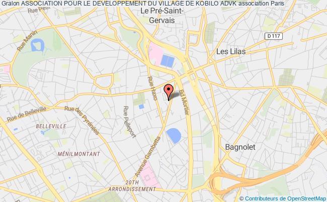 plan association Association Pour Le Developpement Du Village De Kobilo Advk Paris