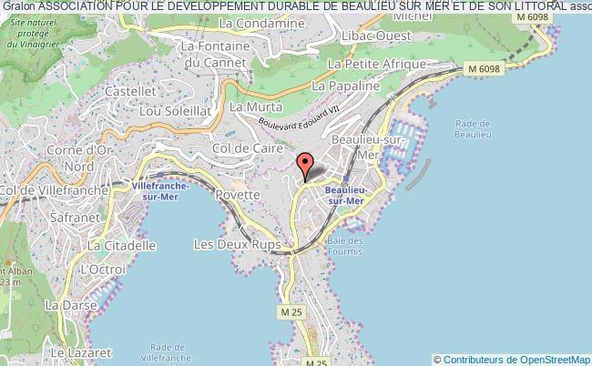 plan association Association Pour Le Developpement Durable De Beaulieu Sur Mer Et De Son Littoral