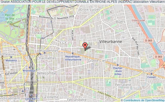 plan association Association Pour Le Developpement Durable En Rhone-alpes (addral)