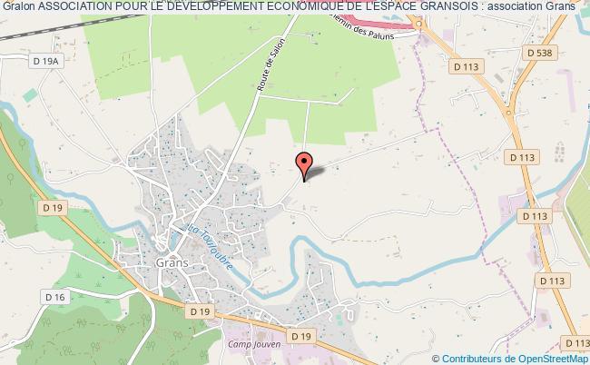 plan association Association Pour Le Developpement Economique De L'espace Gransois :