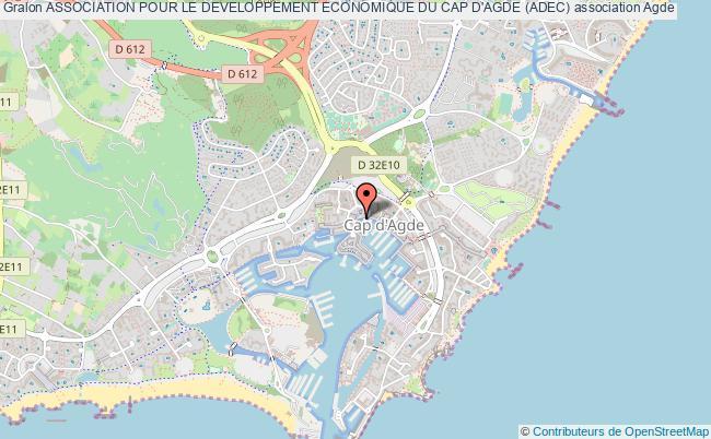 plan association Association Pour Le Developpement Economique Du Cap D'agde (adec) Le Cap d'Agde