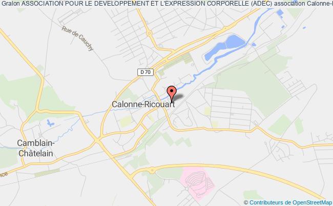 plan association Association Pour Le Developpement Et L'expression Corporelle (adec)