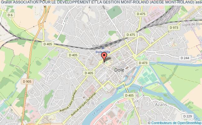 plan association Association Pour Le Developpement Et La Gestion Mont-roland (adege Mont-roland) Dole