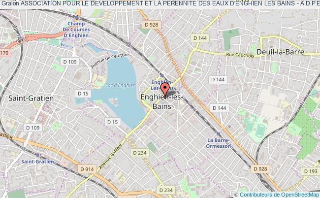 plan association Association Pour Le Developpement Et La Perennite Des Eaux D'enghien Les Bains - A.d.p.e.e.