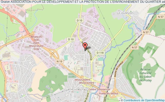plan association Association Pour Le Developpement Et La Protection De L'environnement Du Quartier Vesoul
