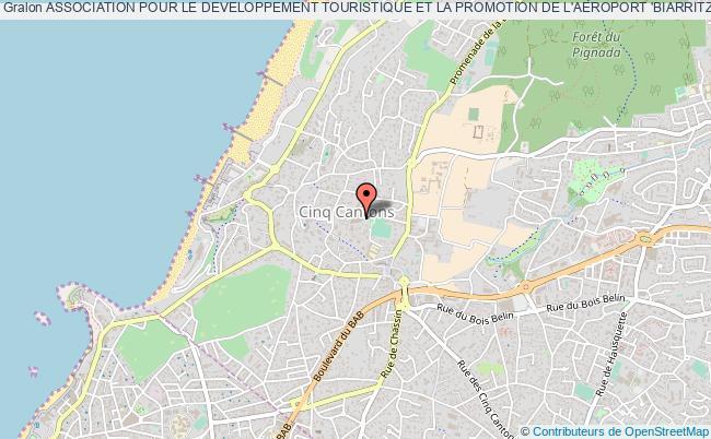 plan association Association Pour Le Developpement Touristique Et La Promotion De L'aeroport 'biarritz-anglet-bayonne'