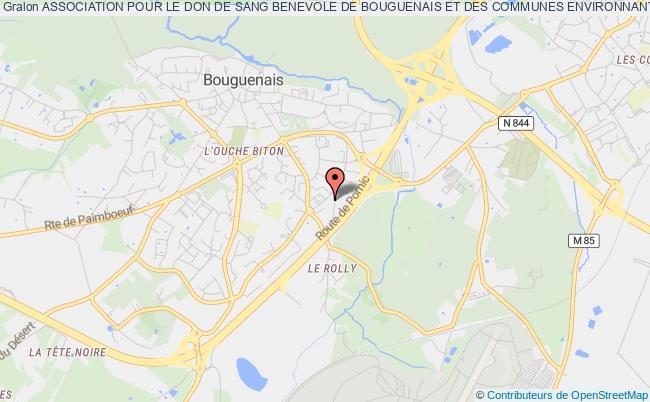 plan association Association Pour Le Don De Sang Benevole De Bouguenais Et Des Communes Environnantes
